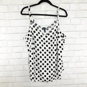 Torrid Black & White Polka Dot Tank Top, Size 3X